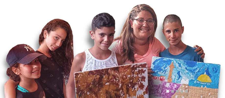קבוצת ריפוי לילדים ונוער חולה פסוריאזיס בים המלח